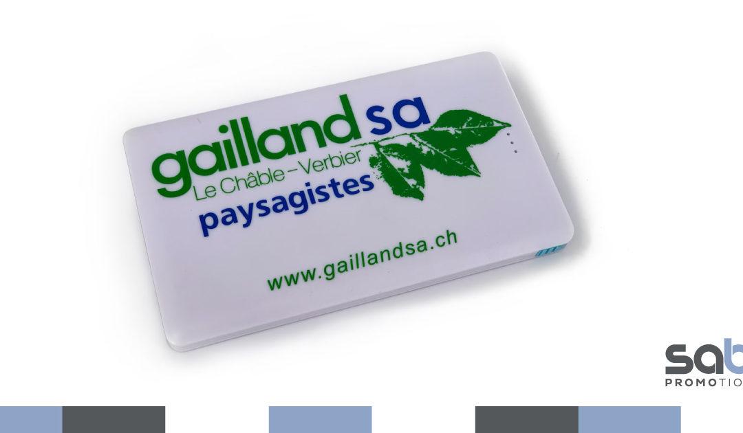Power Bank 5000 milliampères, certification CE – Paysagiste Gailland SA